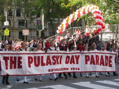 October 5, 2014: Pulaski Day Parade banner