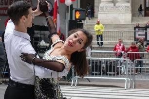 October 4, 2015: Ballroom dancers
